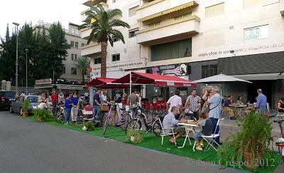 Imagen del Parking Day organizado por Murcia en Bici